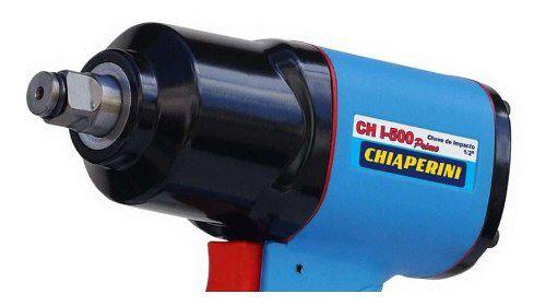 Chave Impacto Pneumatica Profissional 1/2 Chiaperini Torque 50 Compacta Mecanica Leve Diesel Borracharia Oficina