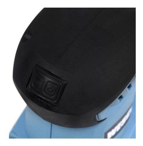 Kit Lixadeira Orbital Profissional Oscilante Wesco WS4151 240w C/ 10 Lixas de Folha Indasa 80 120 150 220 e 320P