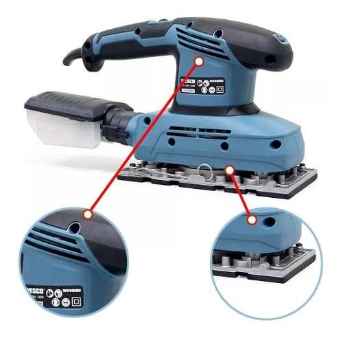 Lixadeira Orbital Oscilante Wesco C/ 6 Lixas 240w 4168 220v