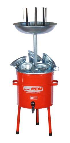 Pingadeira P/ Oleo C/ 20L C/ 6 Funis Completa Metalpem