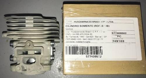 Kit Motor p/ Roçadeira Husqvarna 243r Original c/ Pistão, Aneis e Junta