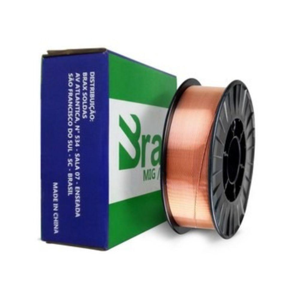 Arame Solda Mig 0.8mm Titanium / Brax 15kg Er70s-6 Din 8559-sg2