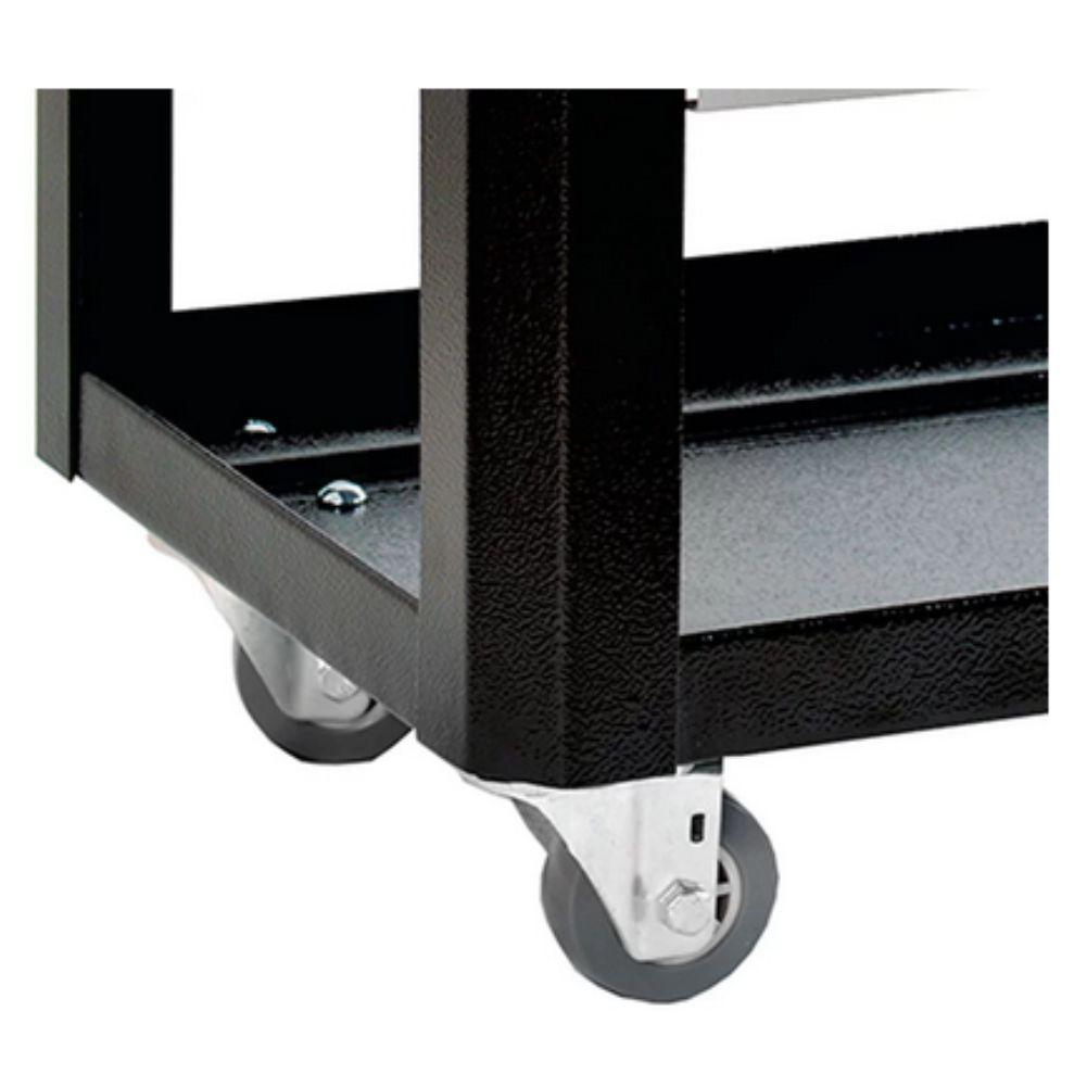 Banco Móvel para Mecânico Preto 400 x 300 x 290mm Porta Ferramentas FERCAR-BM1PR