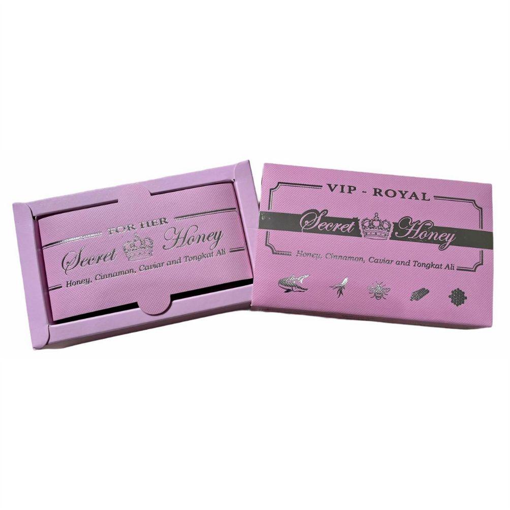 Caixa Mel Estimulante Natural Feminino Vip Royal Secret Honey Original 12 unidades Sachês 15g Made in USA