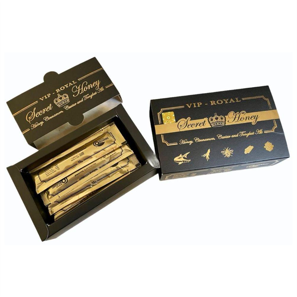 Caixa Mel Estimulante Natural Vip Royal Secret Honey Original Lacrado 12 unidades Sachês 15g Made in USA
