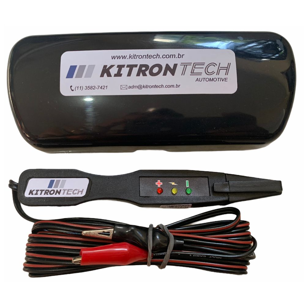 Caneta Teste de Polaridade com Iluminação 12/24V - KITRONTECH