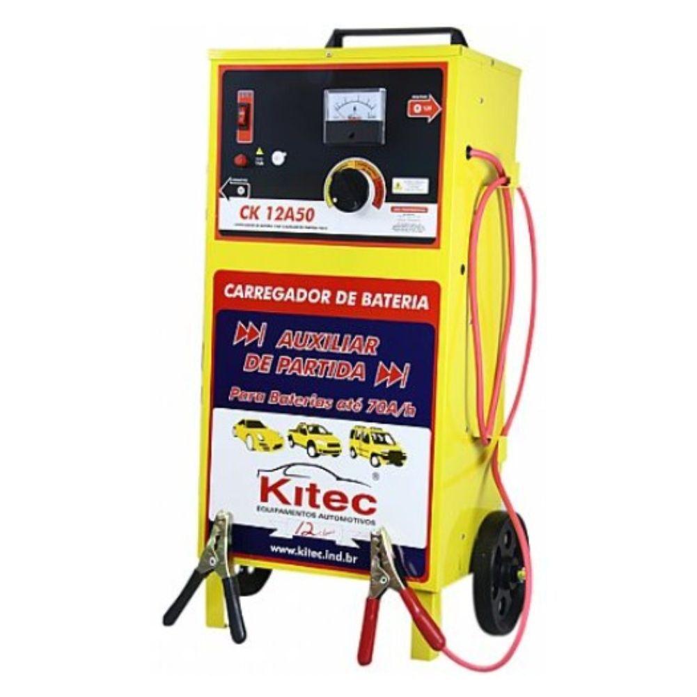 Carregador Bateria Profissional C/ Auxiliar de Partida 150A CK12A50 Kitec