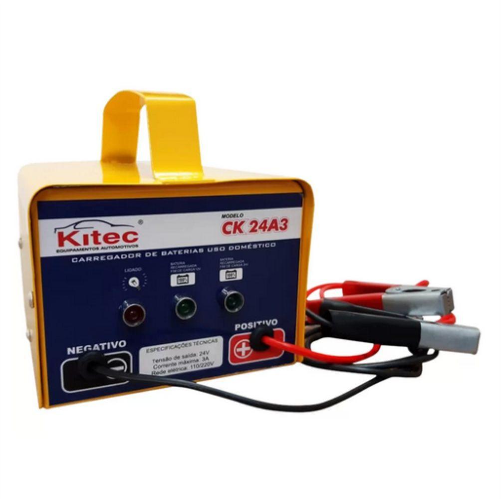Carregador de Bateria 3A 12 / 24volts - Automático Kitec CK24A3