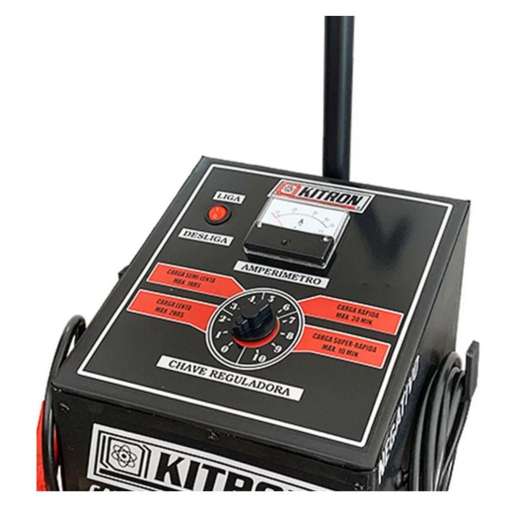 Carregador de Bateria Fox 50A Bivolt com Auxiliar de Partida - KITRON