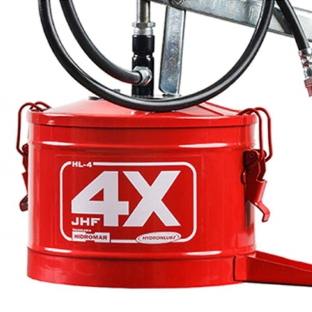 Engraxadeira Manual De Balde 4 Kg C/ Compactador Hydronlubz