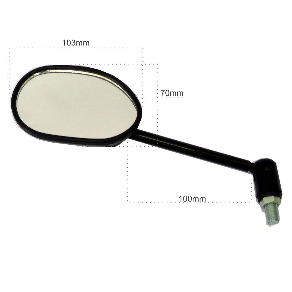 Espelho Retrovisor Articulado P/ Moto T/ Mini Preto P/ Linha Yamaha