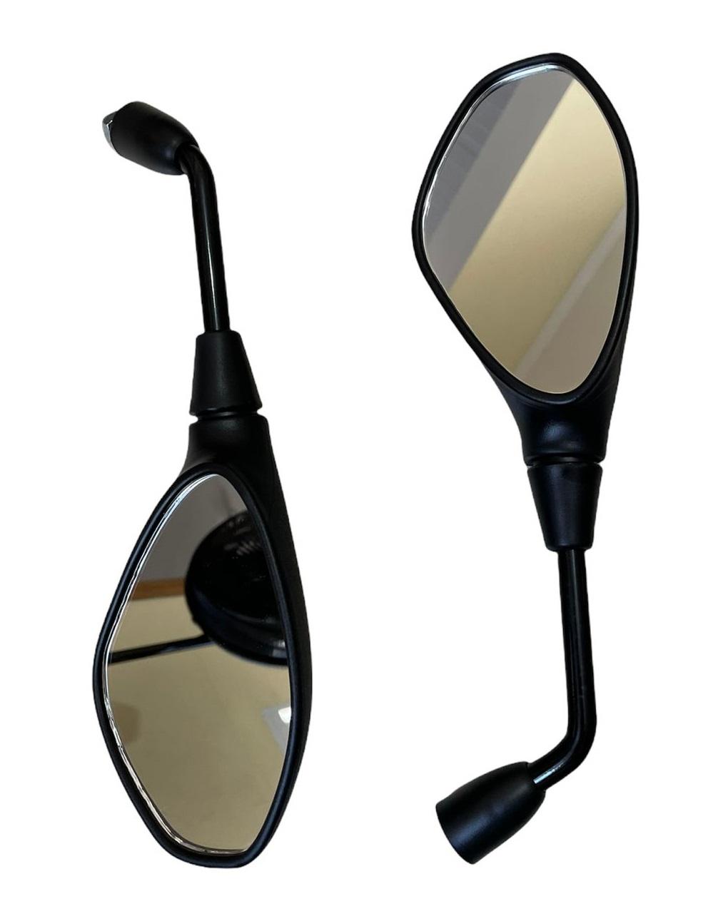 Espelho Retrovisor P/ Moto BMW GS 650 F800 Fixo Preto Padrão Original SLYCK-91274
