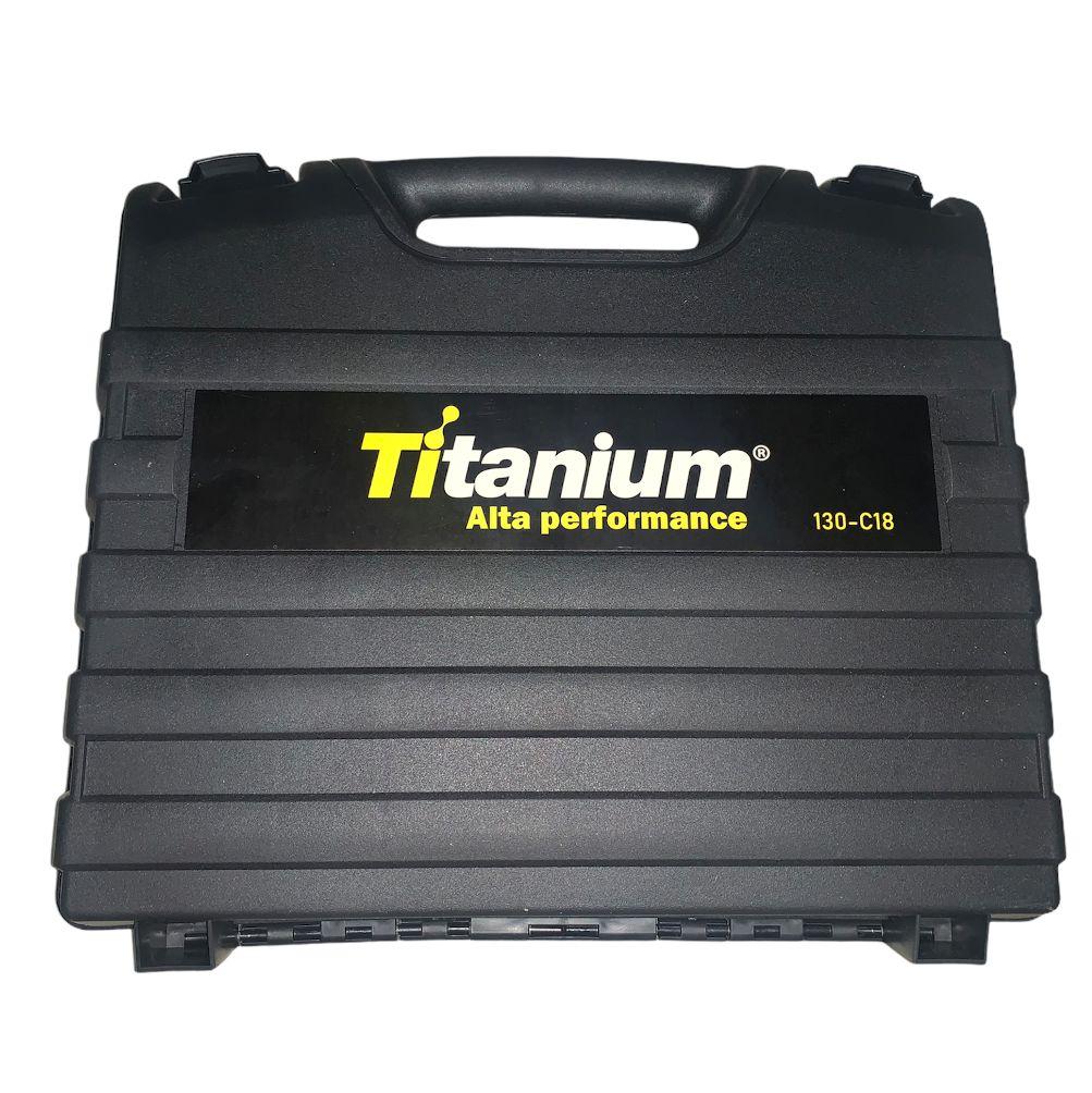 Furadeira e Parafusadeira Com impacto 21v 2 Baterias Titanium 130-C18