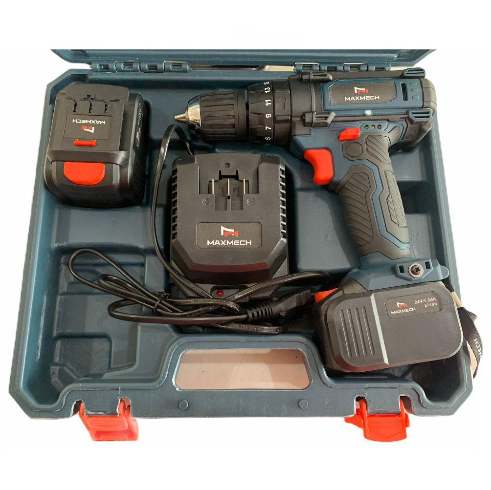 Furadeira Parafusadeira Com Impacto 24V Com 2 Baterias 1.5Ah MAX09-24V