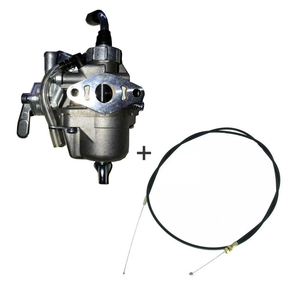 Kit Carburador P/ Roçadeira Makita Modelo Rbc 412 + Cabo do Acelerador Original
