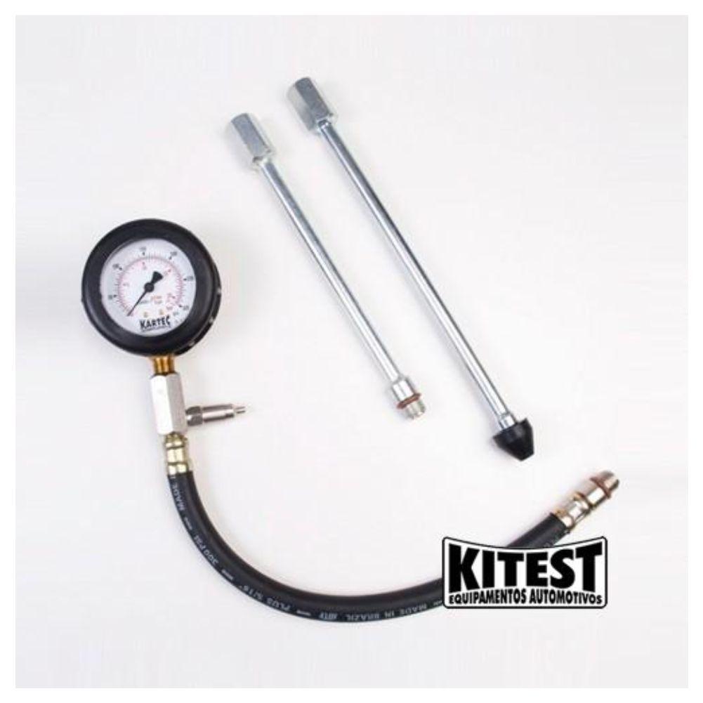 Kit Carrinho P/ Ferramentas C/ 1 Gaveta Reforçado P/ Mecanico Fercar + Medidor de Compressão Cilindro Kitest