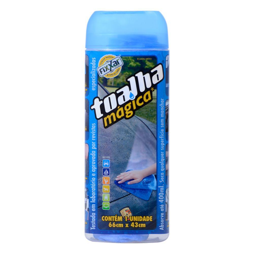 Kit Limpeza Toalha Magica Azul Fixxar Original C/ 5 Unidades