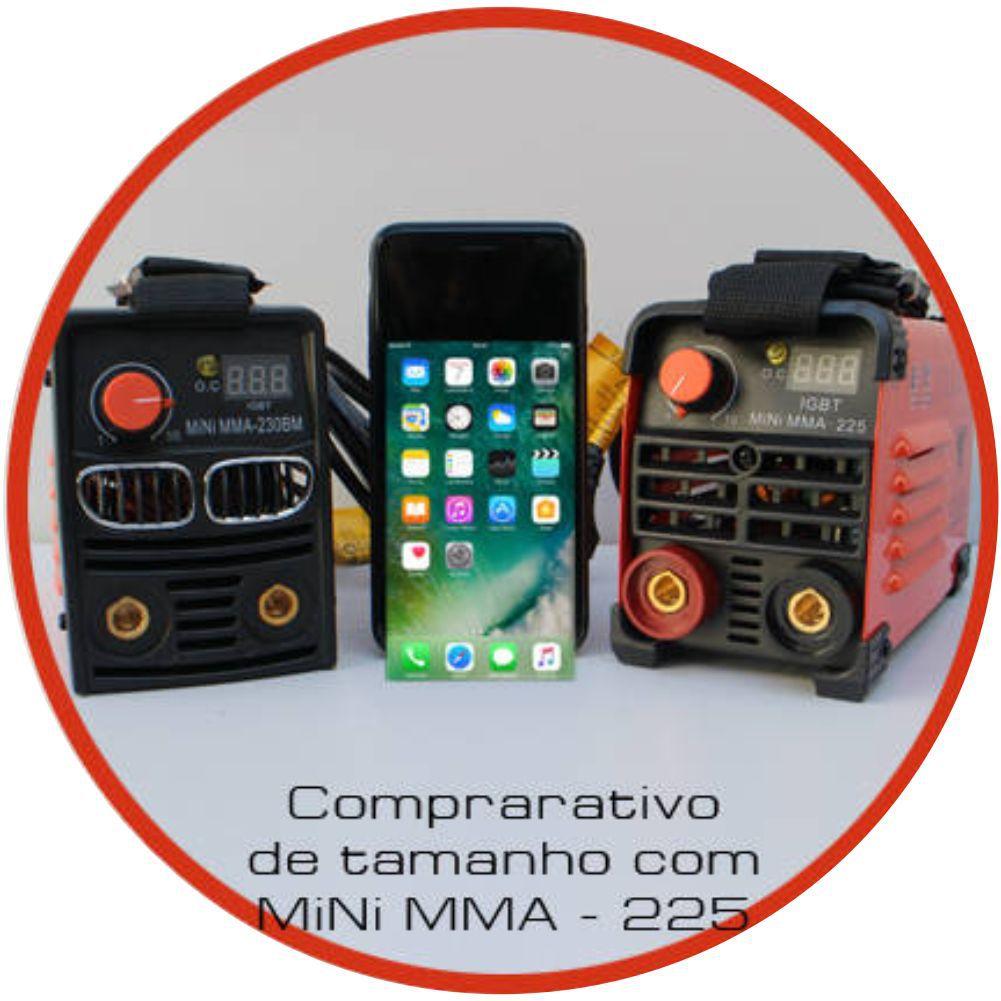 Kit Maquina Inversora Solda Digital MMA 230BM 220v USK c/ Mascara Automatica