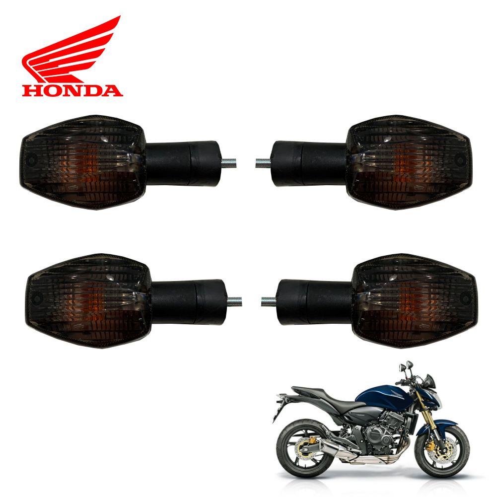 Kit Piscas Seta Dianteiro e Traseiro Modelo Honda Hornet c/ Lampada Cod.: 01355 / 01356