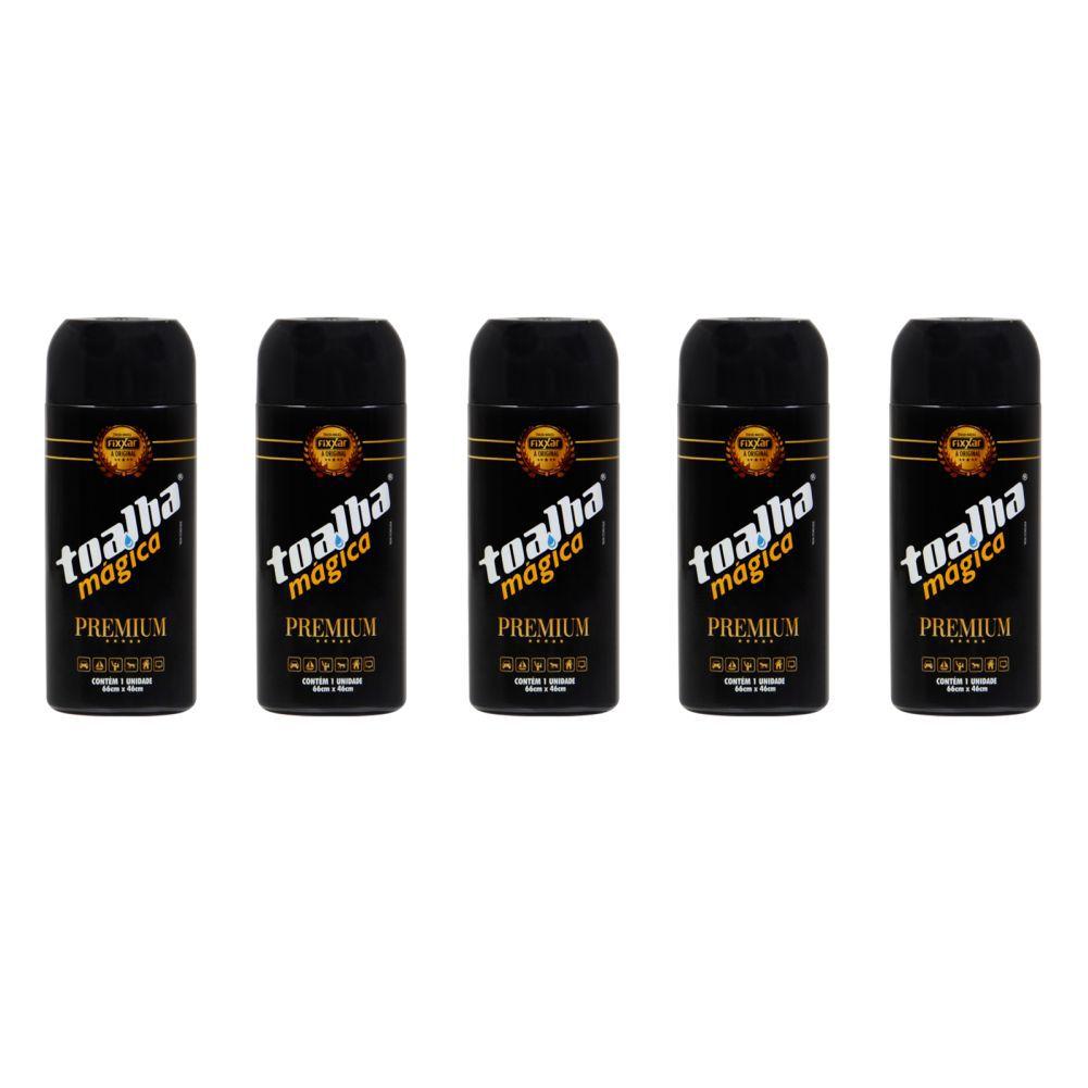 Kit Toalha Magica Amarela Premium Fixxar Original 5 Unidades