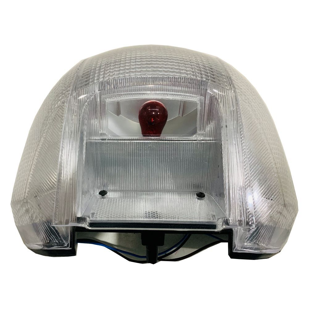 Lanterna Traseira P/ Honda Biz 100cc Modelo Cristal VALPLAS REF.: 02042C