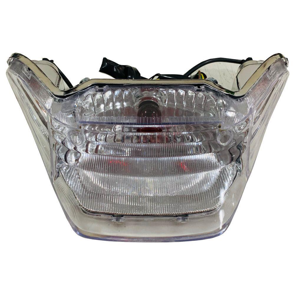 Lanterna Traseira P/ Yamaha Fazer 250 Modelo Cristal C/ Lampadas