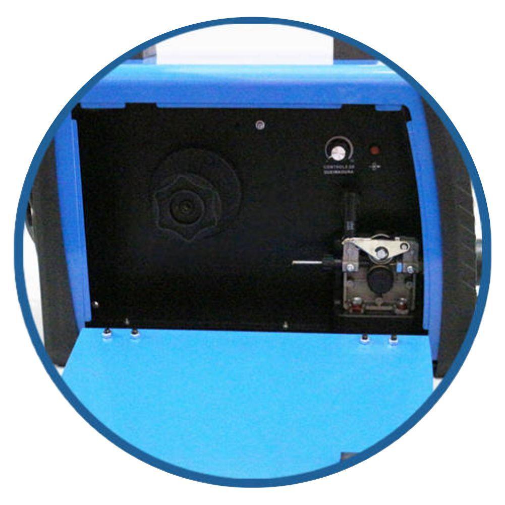 Maquina De Solda Inversora Multiprocesso USK AK-MIG / MMA 250A Bilvot + Arame 5kg 0.8mm