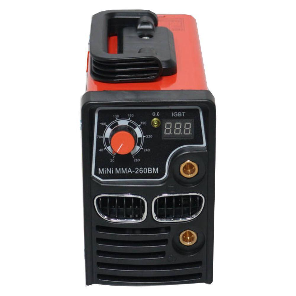 Maquina Solda Mini Inversora C/ Dysplay Digital MMA 260BM 220v USK