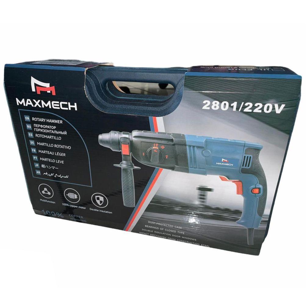 Martelete Combinado 800W 220v 50/60hz USK MAXMECH 2801 12 Meses de Garantia.