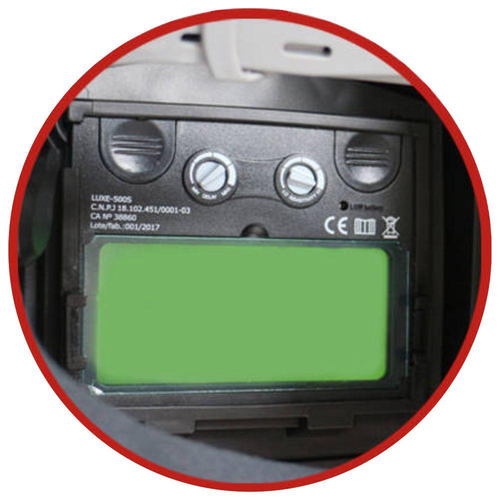 Mascara De Solda Automatica Auto Escurecimento USK Mod. Luxe c/ Regulagem