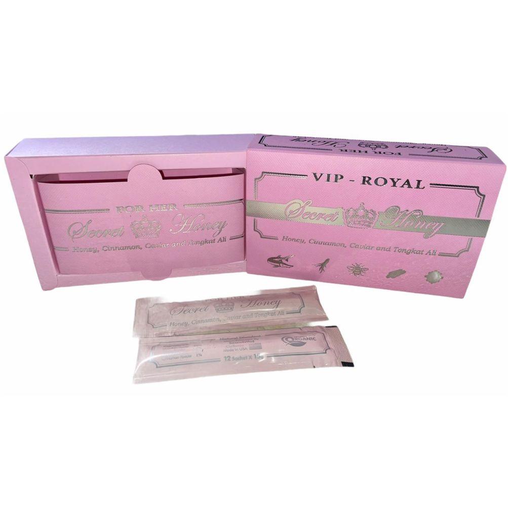 Mel Estimulante Feminino Natural Vip Royal Secret Honey Original Sachê 2 unidades 15g Made in USA