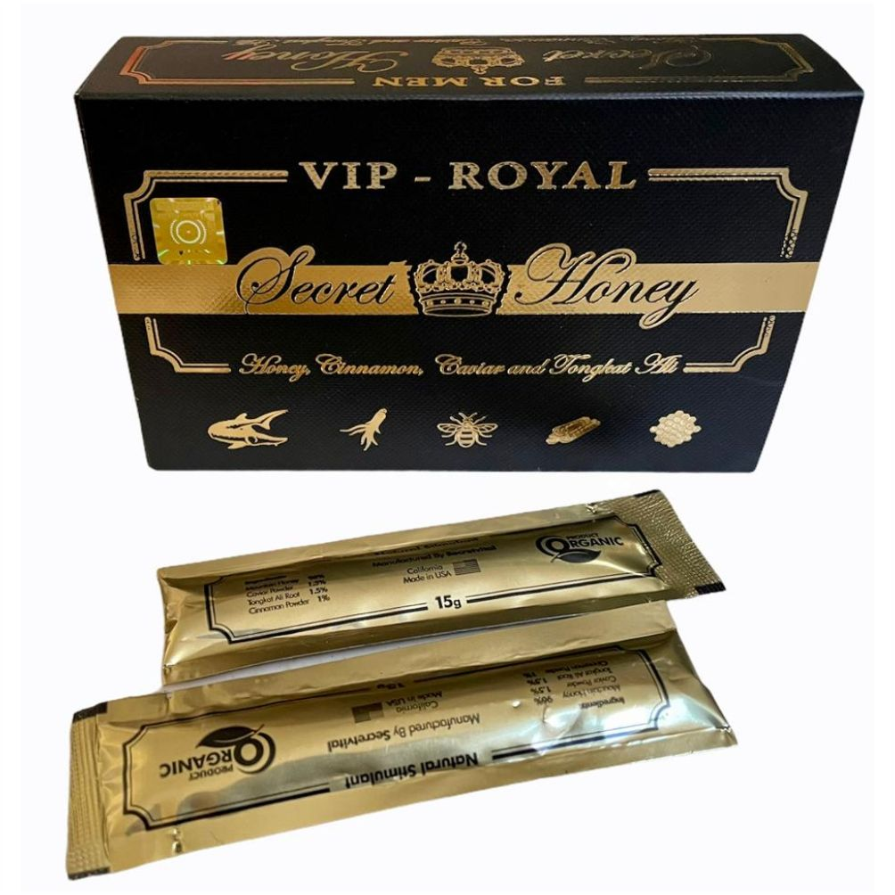 Mel Estimulante Natural Vip Royal Secret Honey Original Lacrado Sachê 15g Made in USA