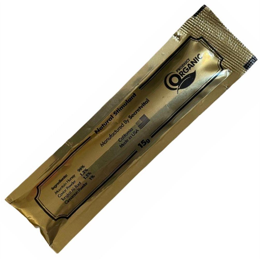 Mel Estimulante Natural Vip Royal Secret Honey Original Lacrado Sachê 2 unidades 15g Made in USA