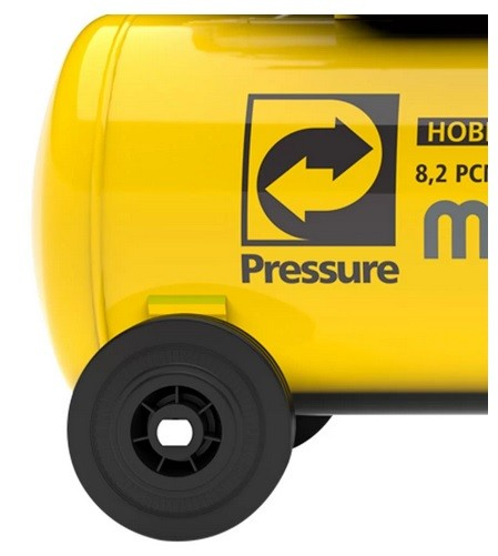 Motocompressor de Ar 8,2 Pés 2HP 50 Litros 116 PSI - PRESSURE-MOTO-PRESS-50L 127V ou 220V