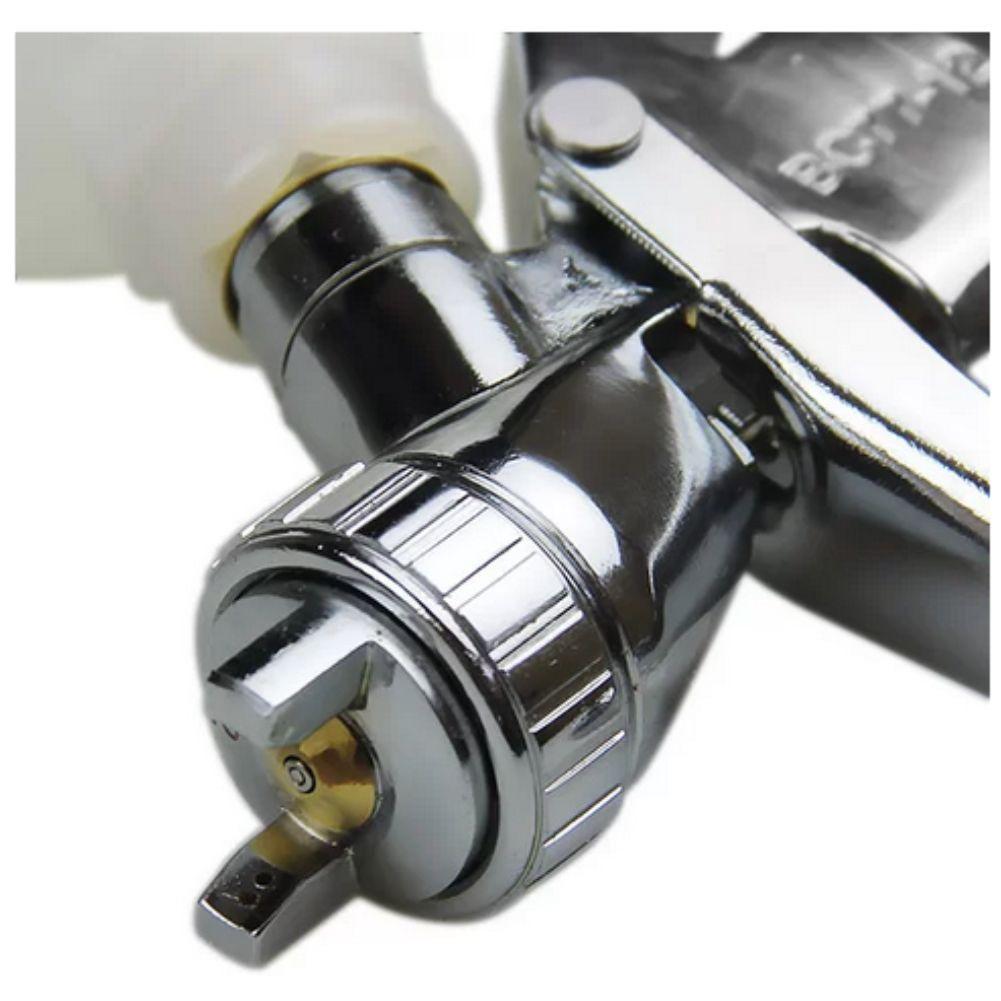 Pistola P/ Pintura de Gravidade Profissional LVLP C/ Bico 1.2mm Caneca 250ml Steula BC 77-12