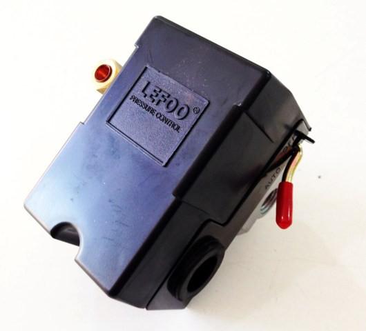 Pressostato Automatico P/ Compressor de Ar Alta Pressão C/ 4 Vias 135 / 175psi Com Alavanca