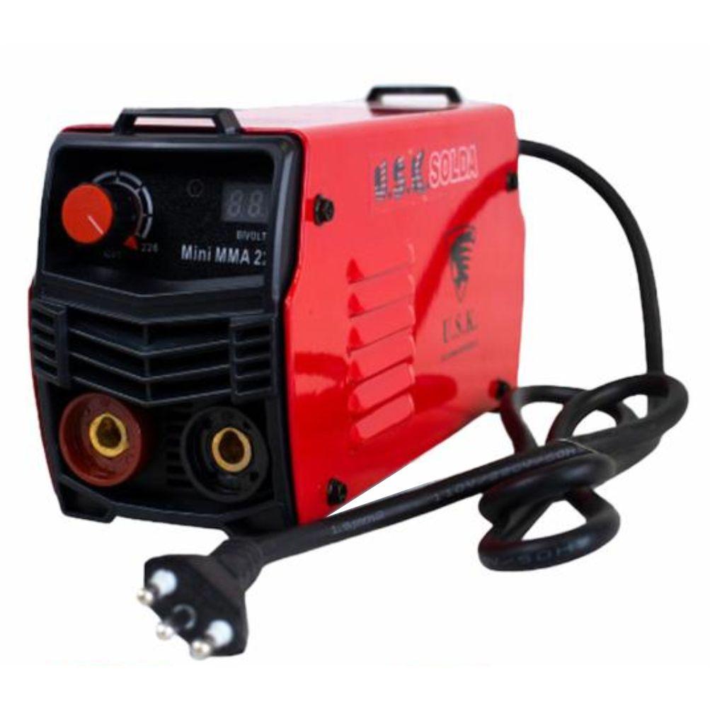 Solda Inversora Profissional Digital Mini Mma 226 USK Bivolt 127/220v