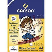 Bloco Para Desenho A4 CANSON 140g C/20 FLS