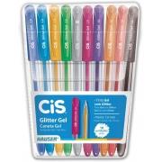 Caneta Glitter Gel C/ 10 Unidades Cis