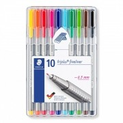 CANETA STAEDTLER FINELINER TRIPLUS C/10 CORES 0,3MM