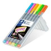 Caneta Staedtler Triplus Fineliner 0.3 mm C/ 6 Cores Neon