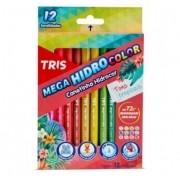 Canetinha Hidrocor C/12 Cores Tons Tropicais - Tris
