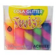 Conjunto de Cola Glitter Twist C/ 5 - Acrilex