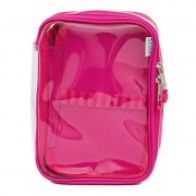 Estojo Box Cristal Rosa Pink- Sabra