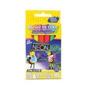 Giz De Cera Big Neon - Acrilex