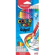 Lápis de Cor Apagável Color'Peps OOps C/ 12 Cores- Maped