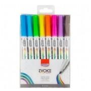 Marcador Artístico Evoke Outline C/ 8 Cores Brw