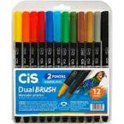 Marcador Dual Brush Aquarelável  Cis C/12