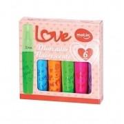 Marcador Fluorescente Love C/ 6 Cores - Molin