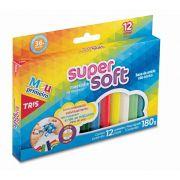 Massa de Modelar Super Soft Tris 12 cores